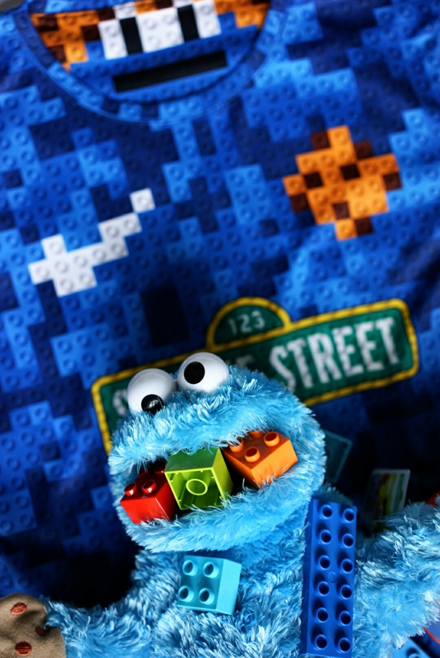 Cookie Monster x lego Duplo